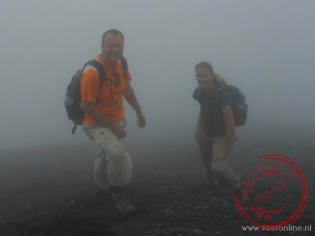 Het hoogste punt zo'n 250 meter onder de top van de Concepción vulkaan