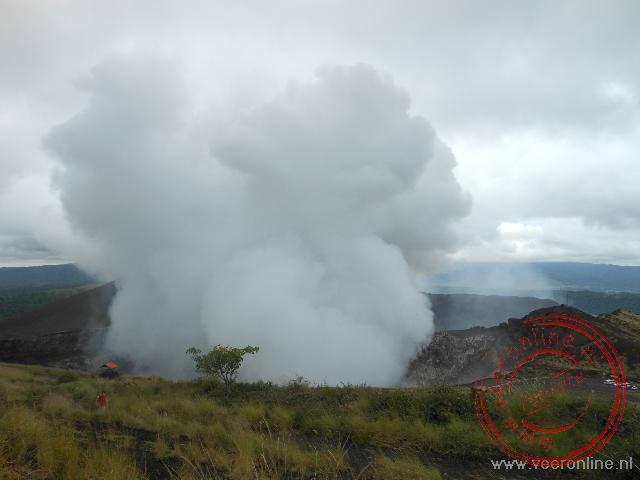 De nog actieve Masaya vulkaan in Nicaragua