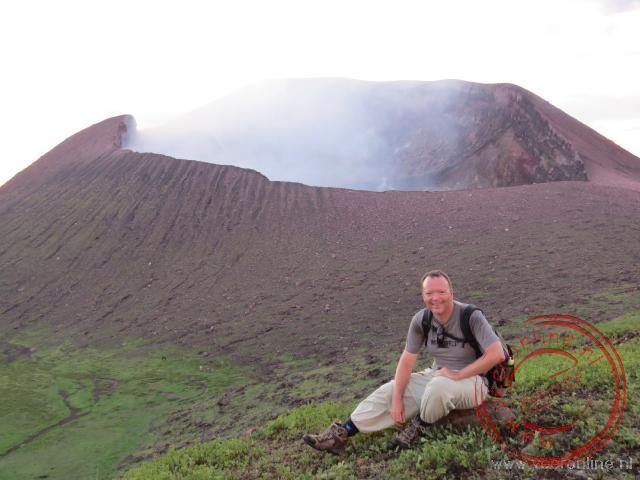 Voor de Telica vulkaan in Nicaragua