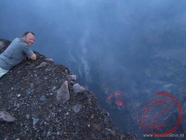Lava in de krater van de Telica vulkaan