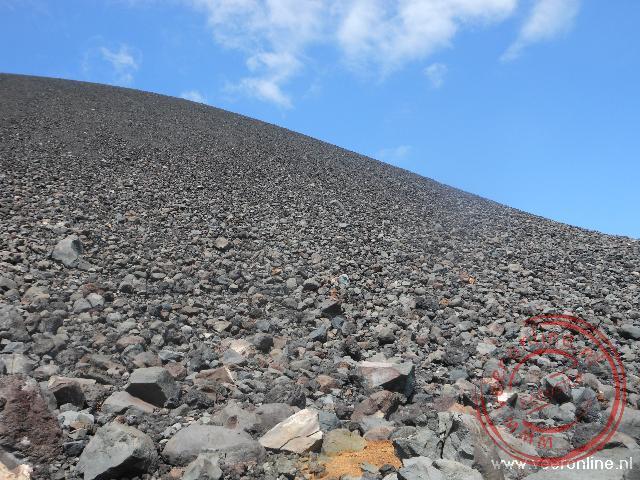 De rotsachtige Cerro Negro vulkaan in Nicaragua