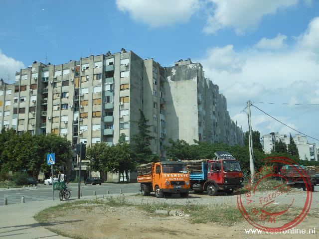 De wat troosteloze buitenwijken van Podgorica
