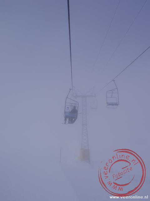 Wintersport Morgins - Lift in de mist