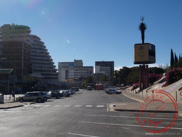 Het centrale plein in Windhoek