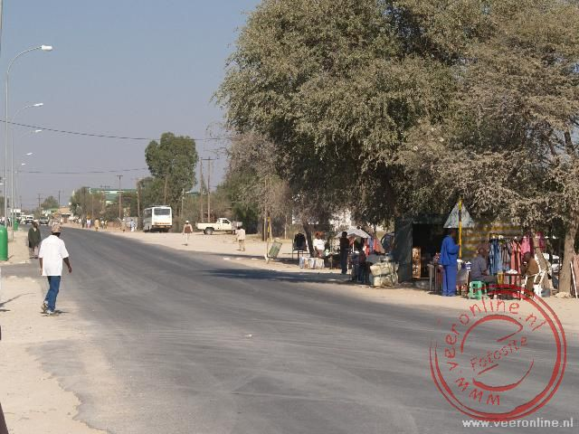 Het stadje Ghanzi in Botswana