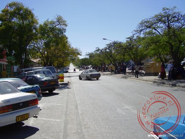 De stad Grootfontein in Namibië