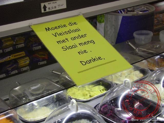 Of je de salades niet wil mengen.