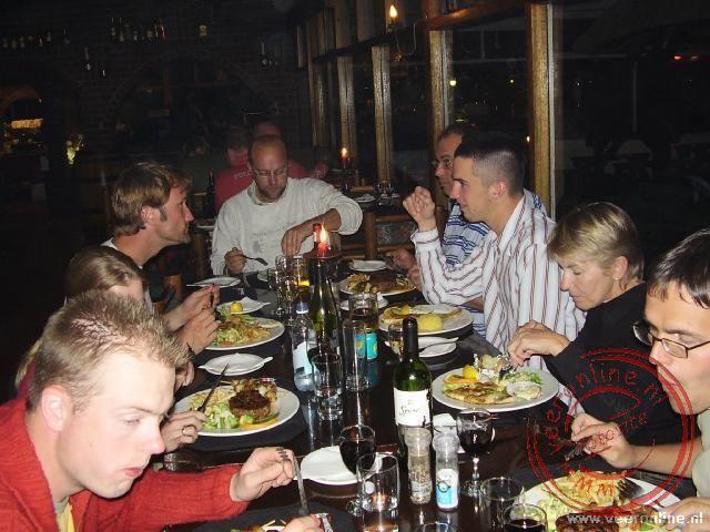 Uit eten in het restaurant in Swakopmund