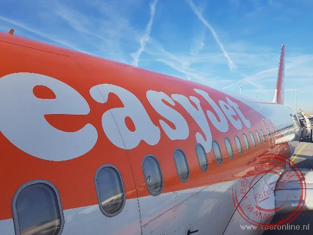 De vlucht met Easyjet neer Napels