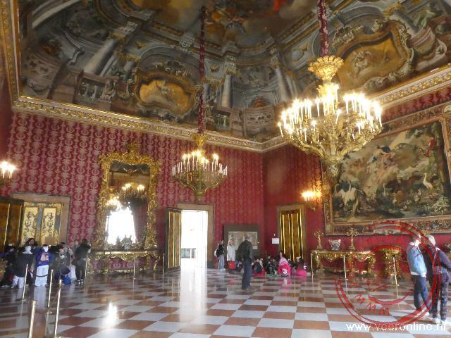 De prachtig gedecoreerde koninklijke suites