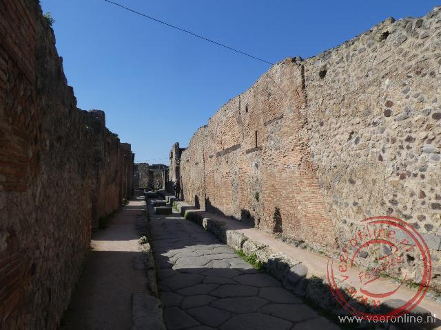 Een straat in het oude Pompeï
