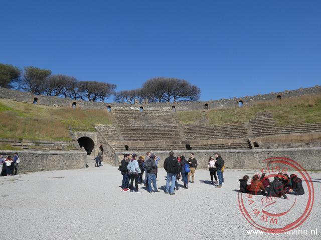 De restanten van het amfitheater in Pompeï