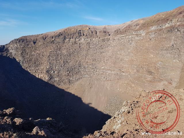 De krater van de vulkaan
