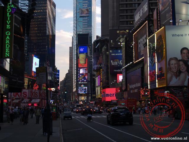 Times Square het kruispunt tussen Broadway en the 7th Avenu
