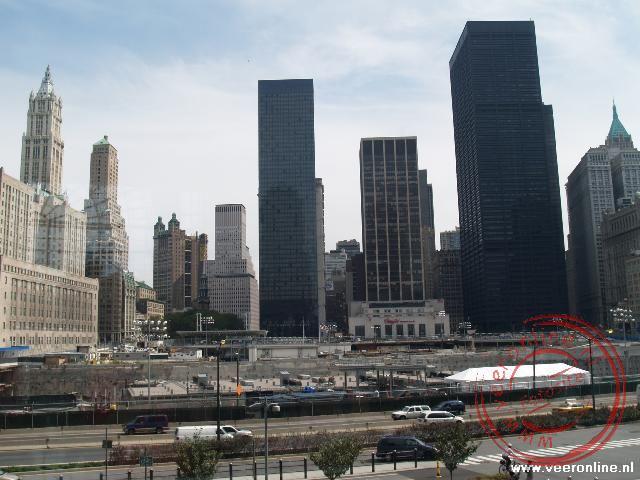 Ground Zero de voormalige plaats van de Twin Towers
