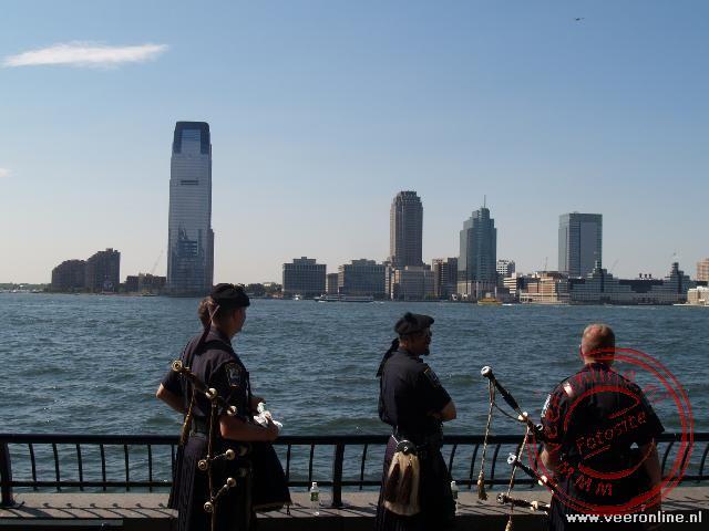 Jersey City aan de overzijde van de Hudson River