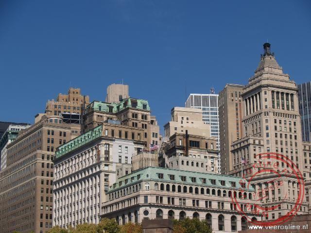 Een bonte verzameling wolkenkrabbers in Manhattan