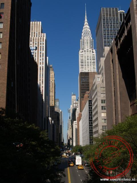De East 33th Street met zicht op de Chrysler Tower