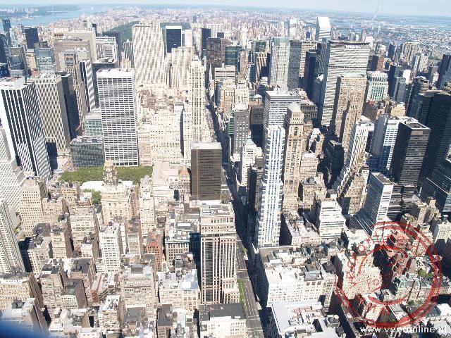 Stadsgezicht richting het noorden vanaf de Empire State Building