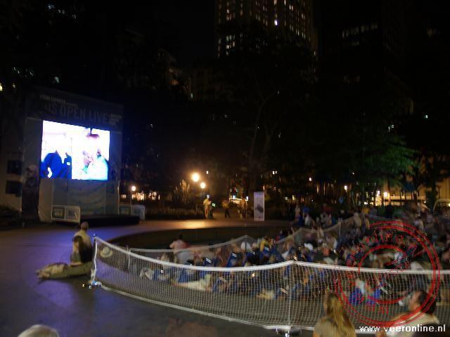De finale van de US Open in Madison Square Park