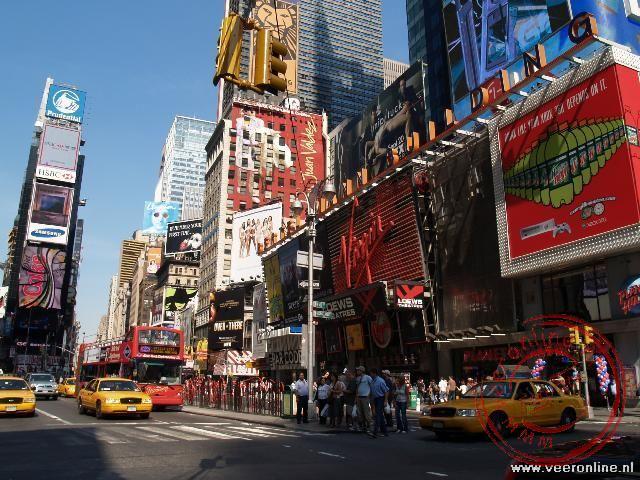 De lichtreclame van Times Square