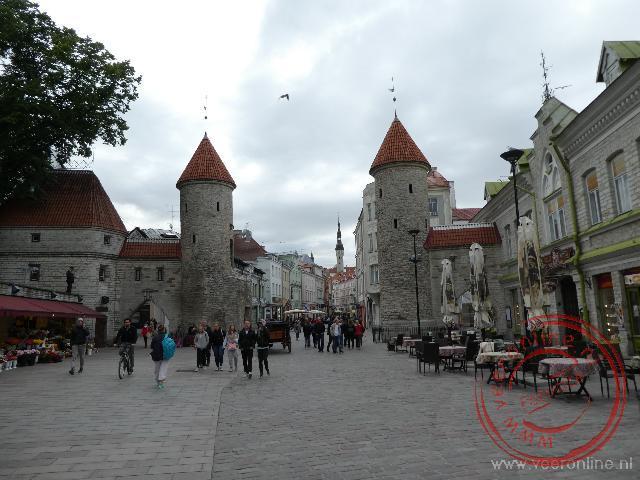 De toegangspoort tot de oude stad van Tallinn