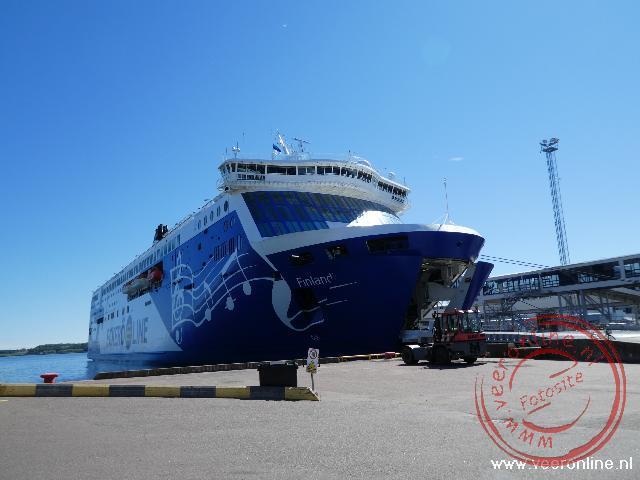 De veerboot richting Helsinki