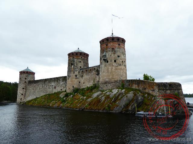 Het Olavinlinna kasteel is ooit gebouwd door de Zweden