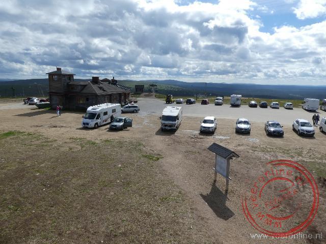 Uitzicht vanaf de Kiilopaa heuvel in Saariselka