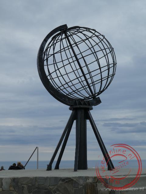 De Globe het monument op de Noordkaap