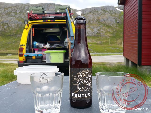 Een speciaal Brutus biertje op de Noordkaap