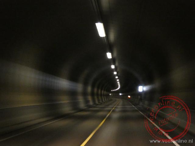 Een van de vele tunnels in Noorwegen
