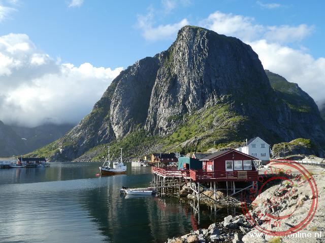 De natuur is prachtig op het schiereiland Lofoten