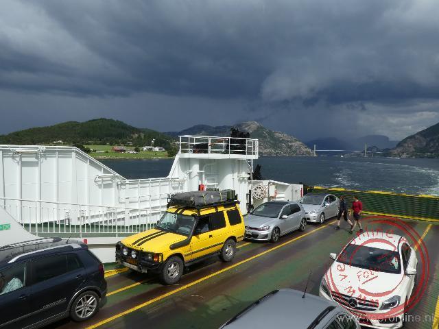 De laatste veerboot over een fjord