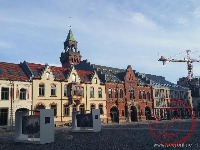 Het centrale plein van Kristiansand