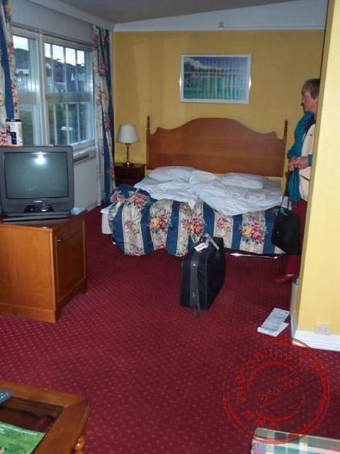 De hotelkamer in het Sporthotel in Gjøvik