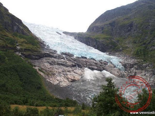 De uitlopers van de Brævasshytta gletsjer