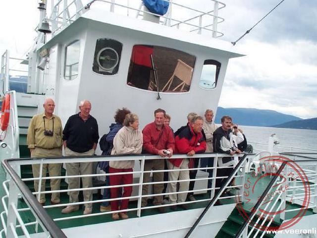 In Hella namen we de veerboot richting Vangsnes aan de andere oever van het Sognfjord