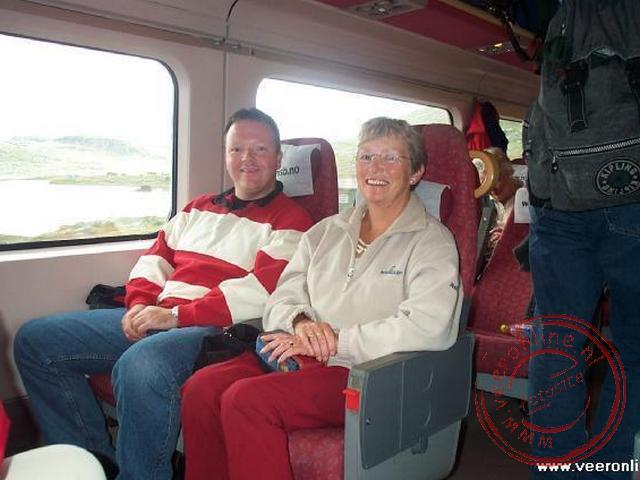 Een foto in de trein