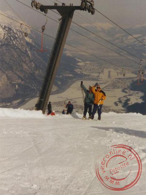 Onze reisgenoten in de skilift