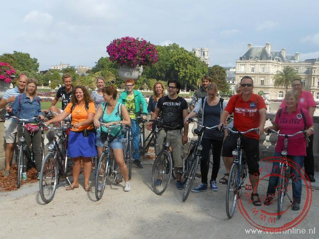 Een groepsfoto met de fietsgroep