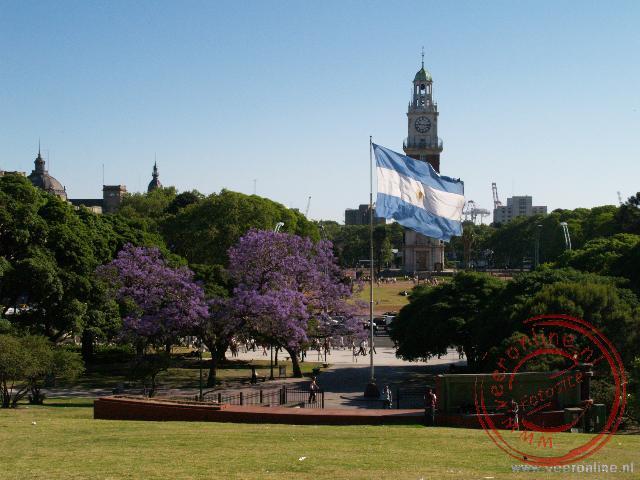 Het park bij het Plaza San Martin