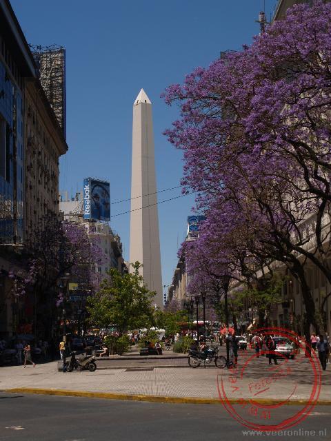 De Obelisk op de Av. 9 de Julio
