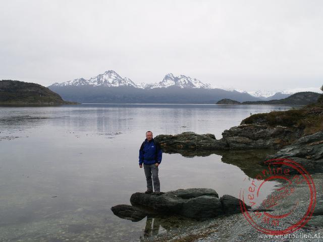 Het beagle canal in het Parque Nacional Tierra del Fuego