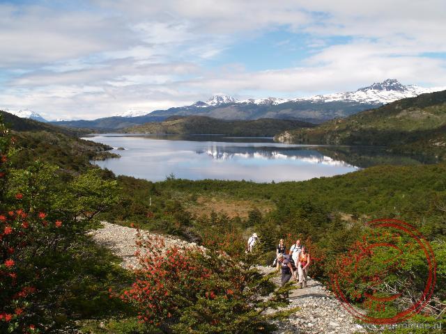 De ingang van de Frans Vallei, een vallei met rondom bergreuzen en gletsjers