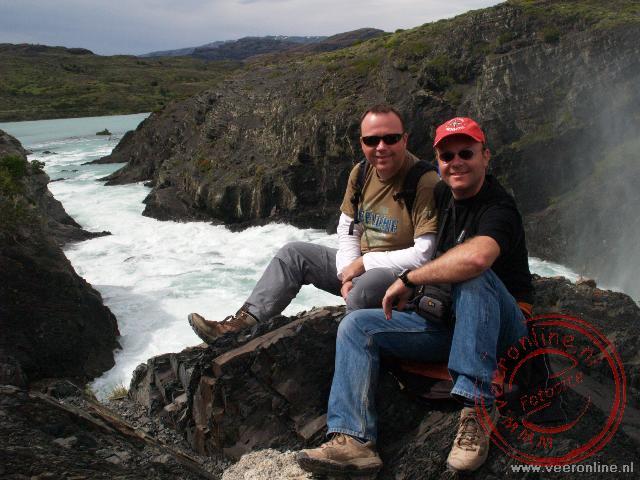 Voor de Salto Grande waterval in Torres del Paine