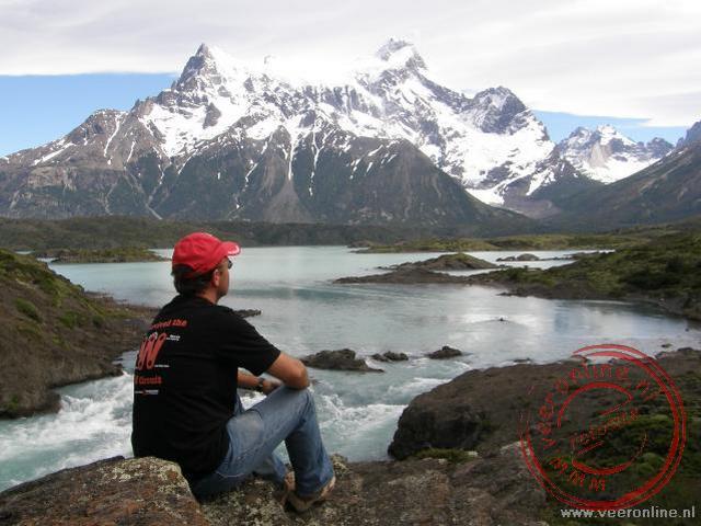 Uitzicht over het Lago Nordenskjold en de Cerro Paine Grande