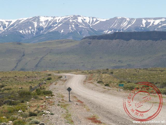 Het landschap van Patagonië is kaal