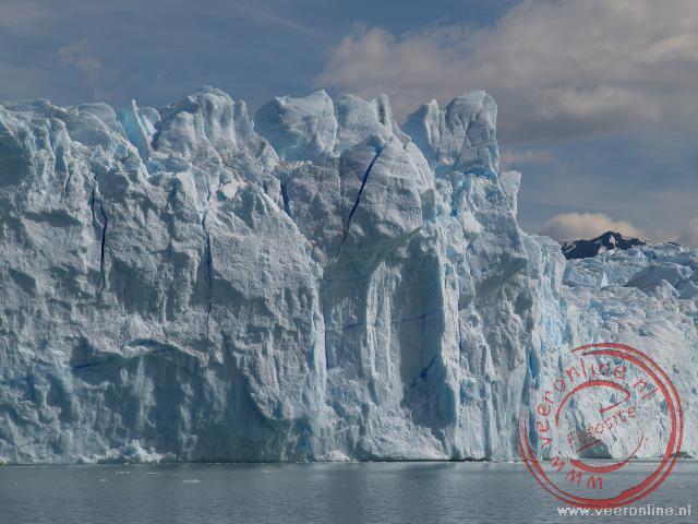 De imposante gletsjerwand van de Perito Moreno