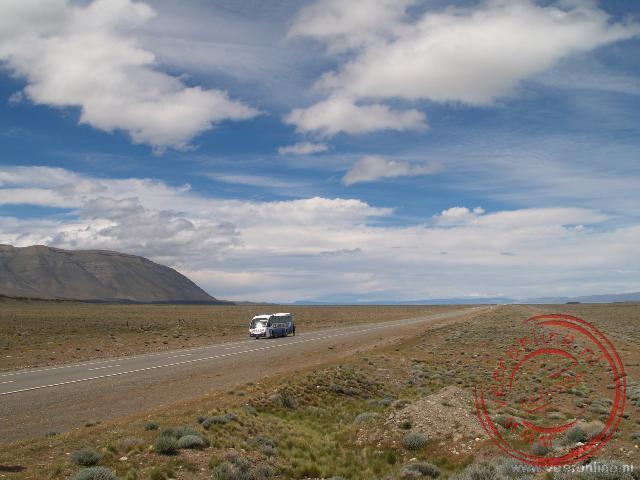 Het uitgestrekte kale landschap is kenmerkend voor Patagonië